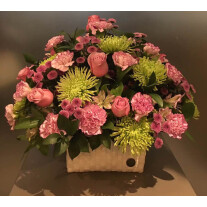 Seasonal flowers in container